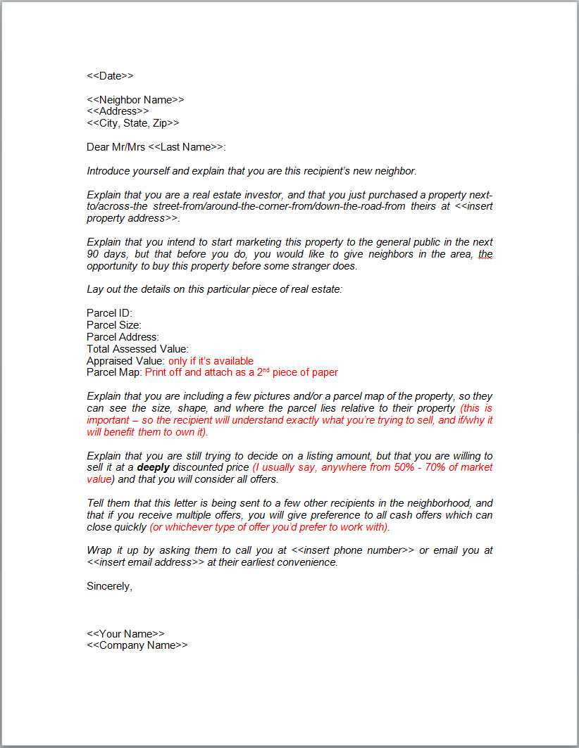 purchase offer letter template