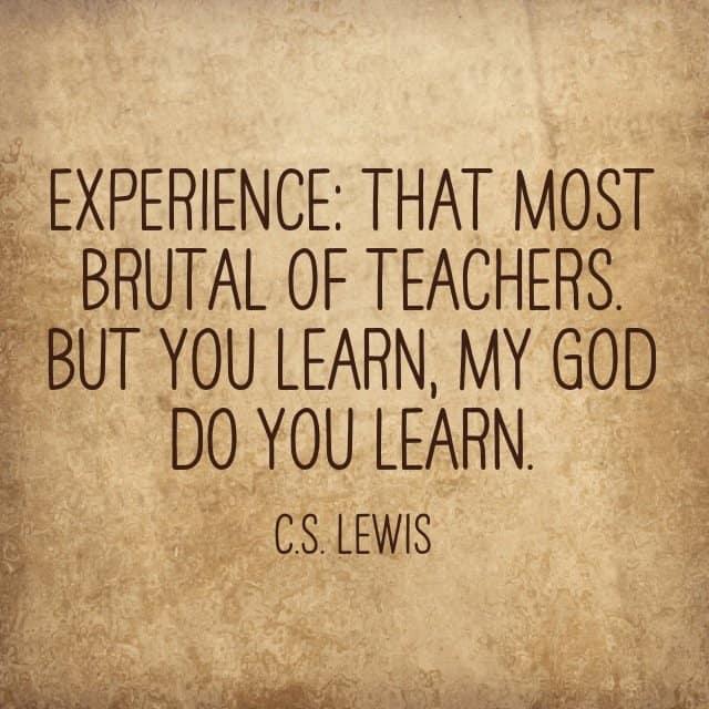 an essay on experience is the best teacher