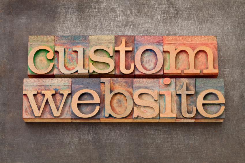custom website in letterpress