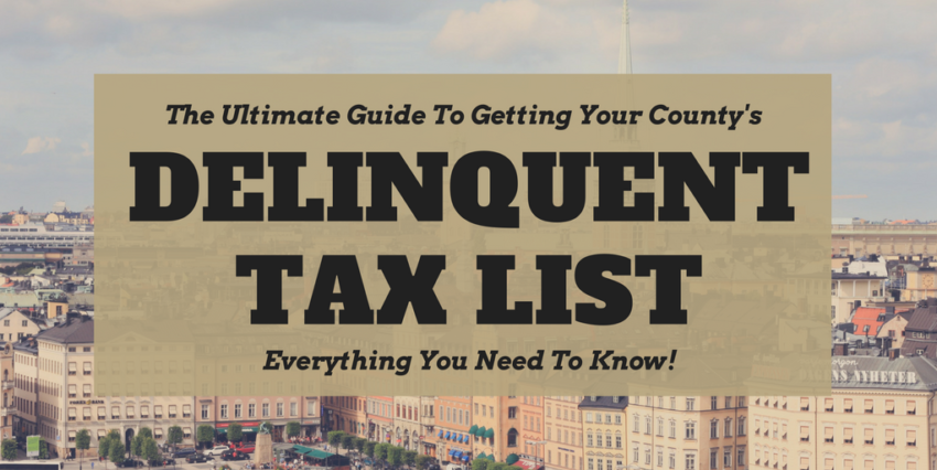 Can You Buy Property If Someone Is Delinquent Property Tax