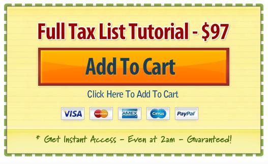 Tax List Tutorial