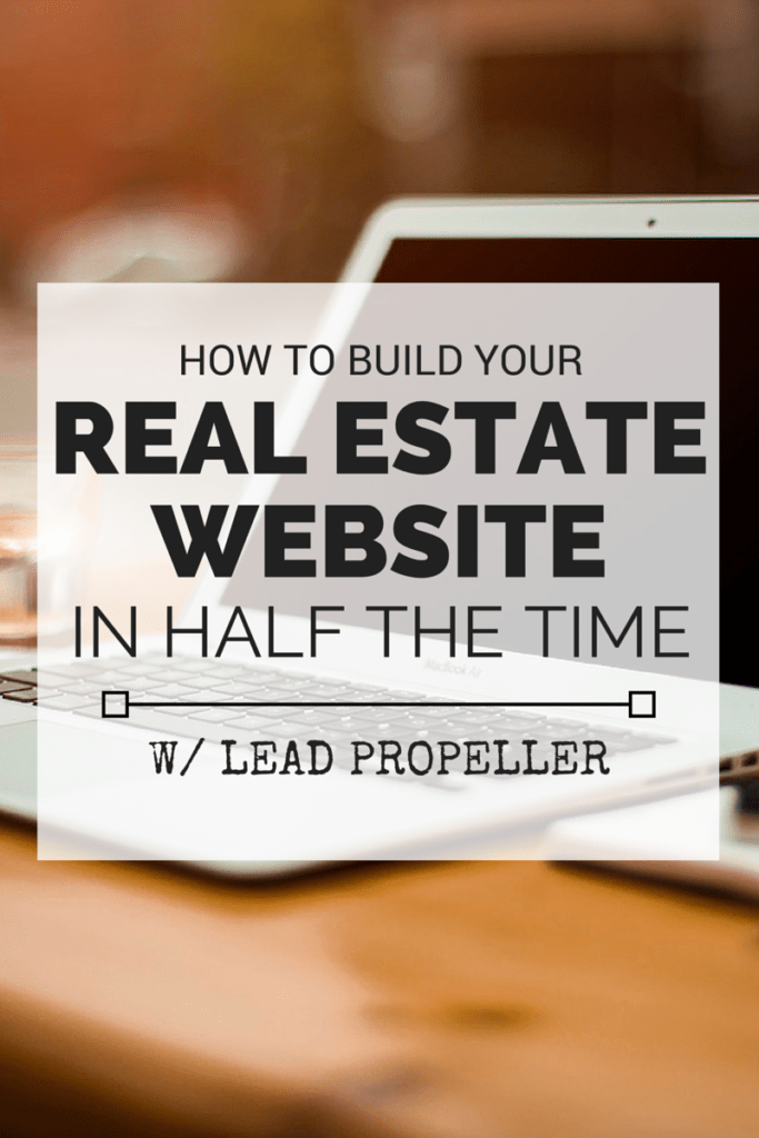Real Estate Website in Half the Time