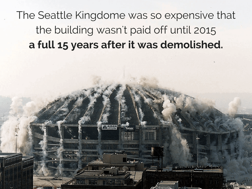 The Seattle Kingdome was so expensive
