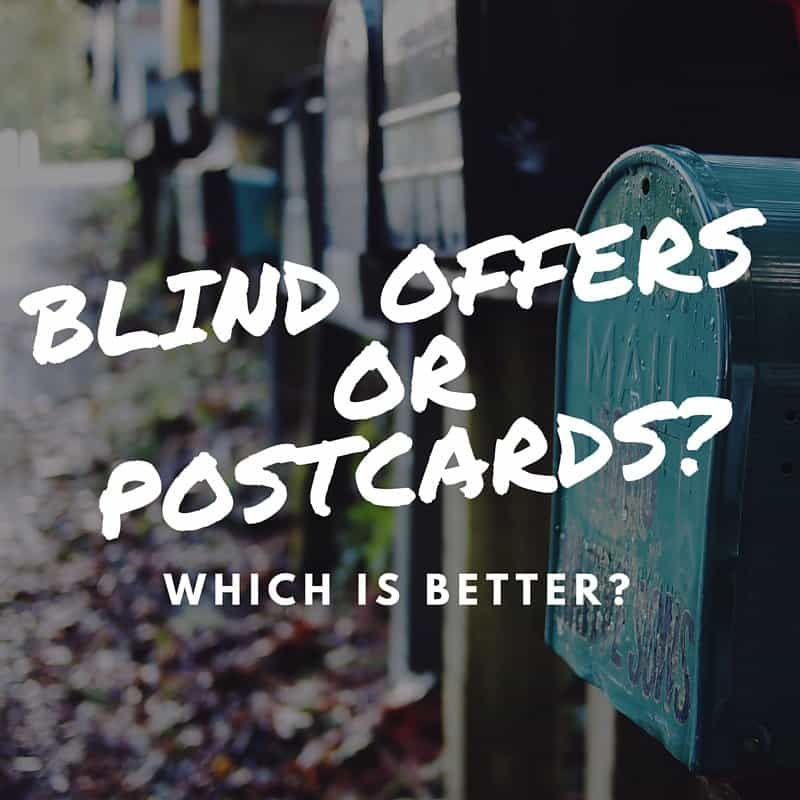 blind offers or postcards