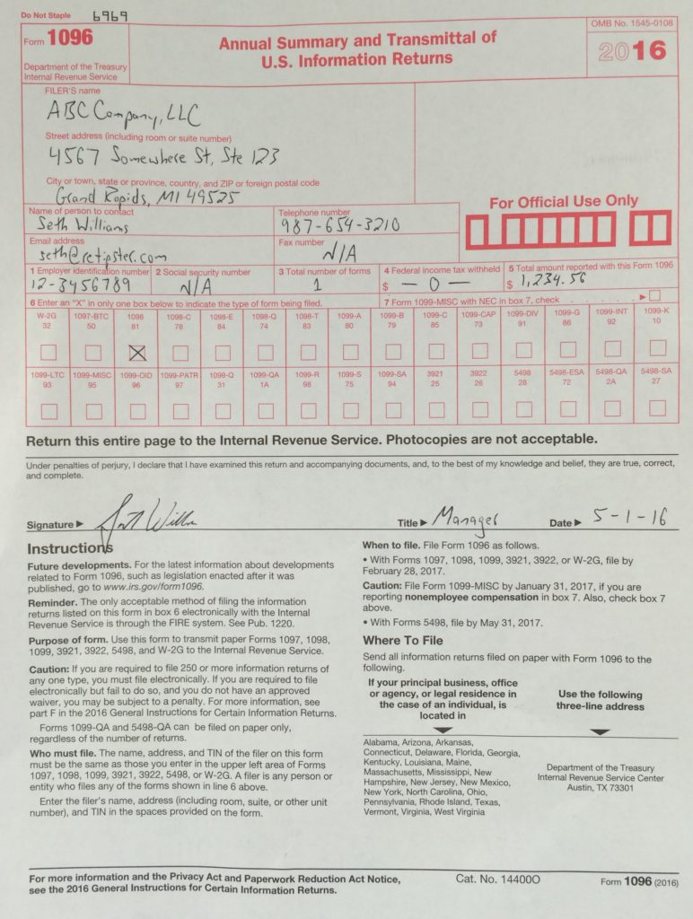 irs form 1096 template - 28 images - what the heck is quot irs ...