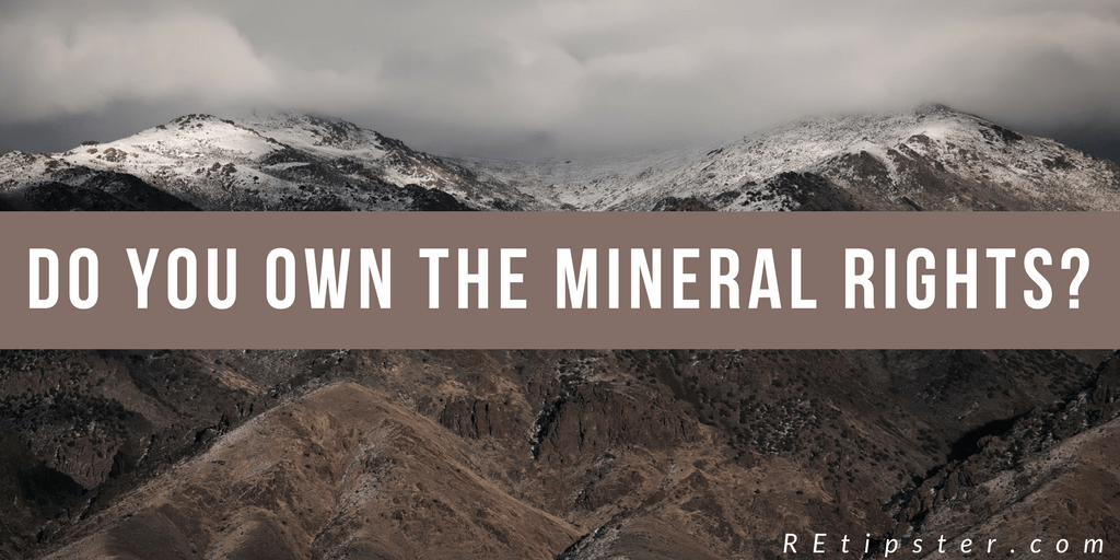 Do you own the mineral rights-