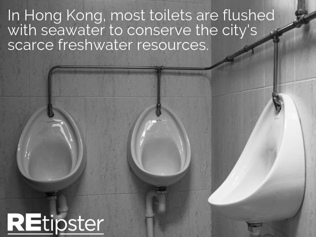 Hong Kong Toilets Seawater