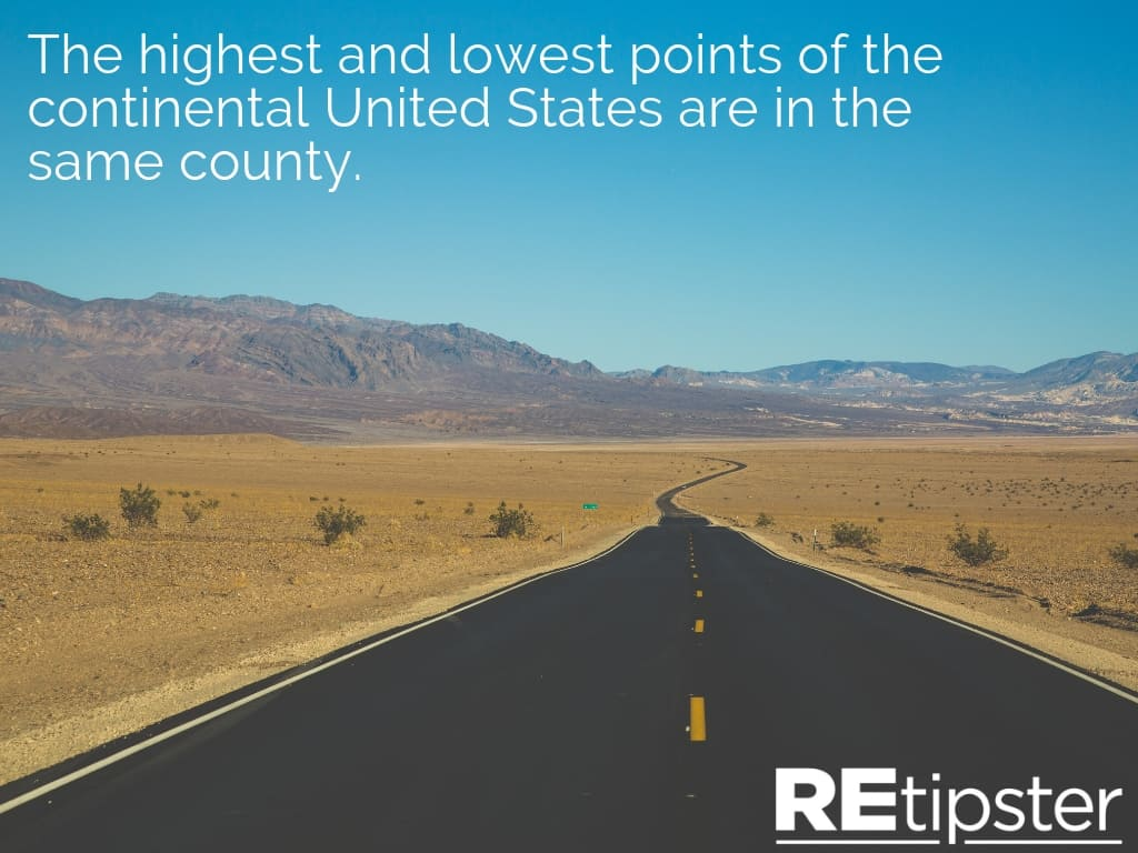 highest lowest point continental US