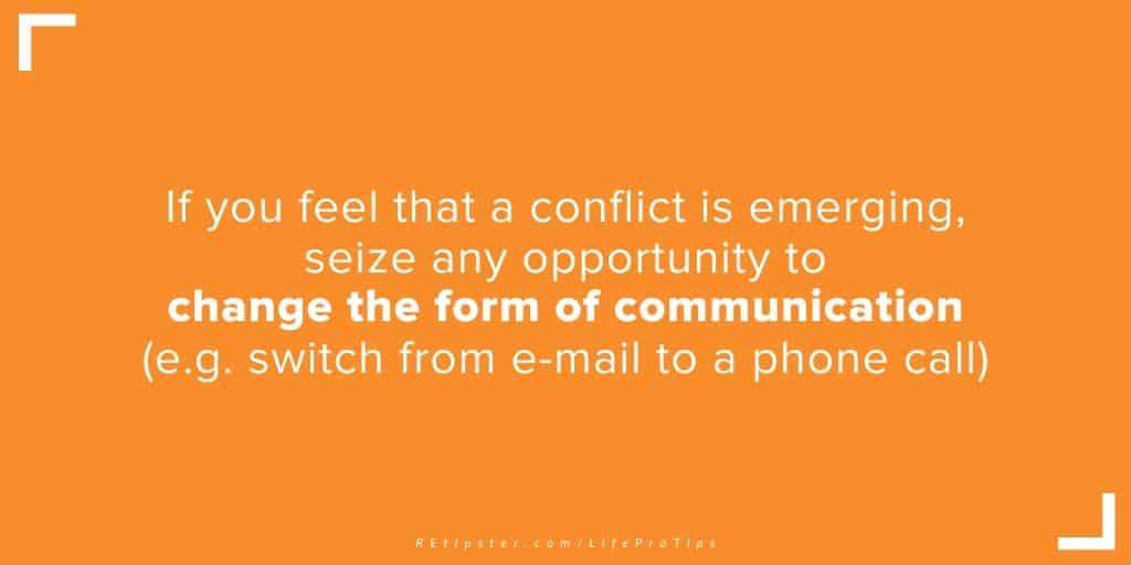 LifeProTip25 - change the form of communication